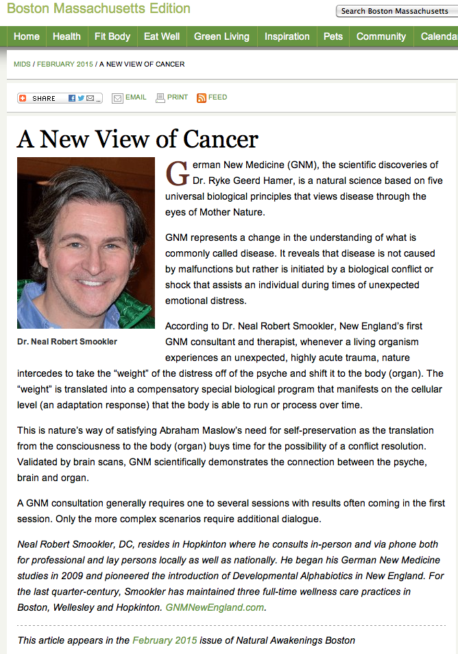 a new view of cancer